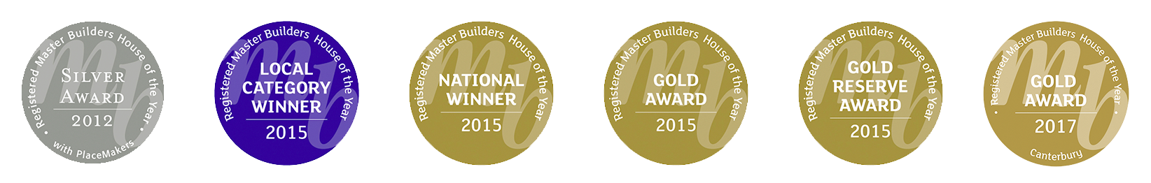 Our team have won multiple Master Builders awards